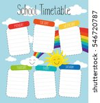 school timetable template for... | Shutterstock .eps vector #546720787
