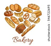 bakery heart symbol of sketched ... | Shutterstock .eps vector #546722695