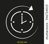 clock  time  icon  vector...   Shutterstock .eps vector #546724015