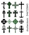 big cross set. cross collection. | Shutterstock .eps vector #546725845