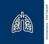 lungs icon flat.   Shutterstock .eps vector #546726169