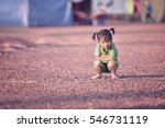 child poverty in asia | Shutterstock . vector #546731119