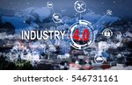 text industry 4.0  and internet ... | Shutterstock . vector #546731161