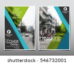 blue and green flyer cover... | Shutterstock .eps vector #546732001