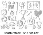 sport sketch isolated items.... | Shutterstock .eps vector #546736129