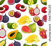 tropical fruits pattern of... | Shutterstock .eps vector #546736135