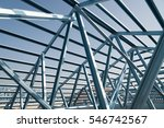 structure of steel roof frame... | Shutterstock . vector #546742567