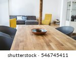 Modern Dining Table In An Open...