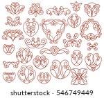 ornamental design elements ... | Shutterstock .eps vector #546749449