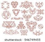 ornamental design elements ... | Shutterstock .eps vector #546749455