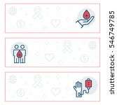 simple banners set of charity ... | Shutterstock . vector #546749785