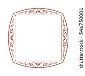decorative frames .vintage... | Shutterstock .eps vector #546750001