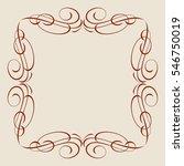 decorative frames .vintage... | Shutterstock .eps vector #546750019