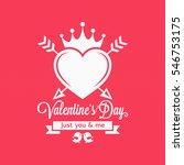 valentines day vintage concept... | Shutterstock .eps vector #546753175
