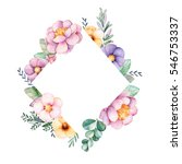 beautiful watercolor rhombus... | Shutterstock . vector #546753337