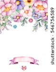 beautiful watercolor card with...   Shutterstock . vector #546756589