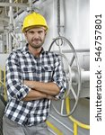 portrait of worker with arms... | Shutterstock . vector #546757801