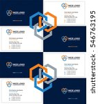 business card construction... | Shutterstock .eps vector #546763195