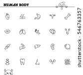 human body flat icon set.... | Shutterstock .eps vector #546763357
