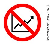 no growing bars graphic sign.  | Shutterstock .eps vector #546767671