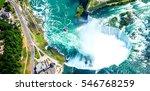 niagara falls aerial view from... | Shutterstock . vector #546768259