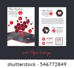 polygonal brochure  a4 flyer... | Shutterstock .eps vector #546772849