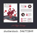 polygonal brochure  a4 flyer... | Shutterstock .eps vector #546772849