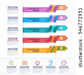 colorful infographics shapes... | Shutterstock .eps vector #546772951