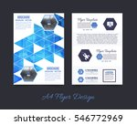 polygonal brochure  a4 flyer... | Shutterstock .eps vector #546772969
