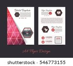 polygonal brochure  a4 flyer... | Shutterstock .eps vector #546773155