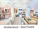 house interior with comfortable ... | Shutterstock . vector #546774499