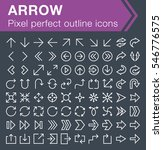 set of thin line arrow icons...