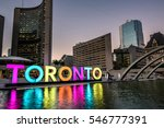toronto city hall and toronto... | Shutterstock . vector #546777391