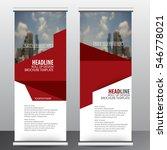 roll up business brochure flyer ... | Shutterstock .eps vector #546778021