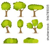 tree  a set of trees  leaves ... | Shutterstock .eps vector #546785035