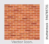 brick work icon isolated of... | Shutterstock .eps vector #546785731