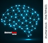 abstract polygonal brain with...   Shutterstock .eps vector #546789601