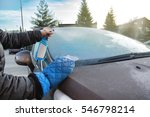 Man Uses Defroster Spray To...