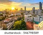 Tel Aviv Skyline At Sunset....