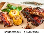 food barbecue snack grill ribs... | Shutterstock . vector #546805051