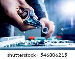 instrument in auto repair... | Shutterstock . vector #546806215