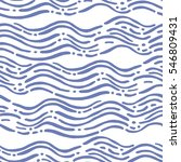 seamless pattern with waves.... | Shutterstock .eps vector #546809431