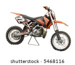 an orange motorcross bike | Shutterstock . vector #5468116
