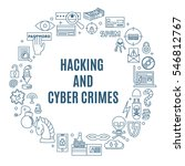 hacking and cyber crime  ... | Shutterstock .eps vector #546812767
