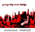 grunge style city design ...