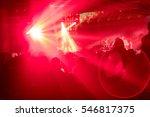 rock concert  enthusiastic... | Shutterstock . vector #546817375