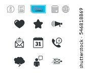 mail  contact icons. favorite ... | Shutterstock .eps vector #546818869
