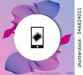 smartphone icon | Shutterstock .eps vector #546824011