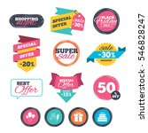 sale stickers  online shopping. ... | Shutterstock .eps vector #546828247