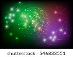 vector digital abstract polygon ...   Shutterstock .eps vector #546833551